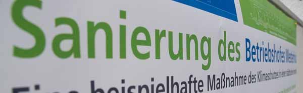 Investition am Fredenbaum: Die Sanierung reduziert den CO2-Ausstoß des Betriebshofs Westerholz um etwa 95 Prozent