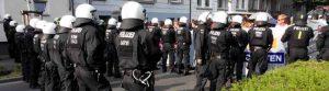 Das Polizeiaufgebot war massiv - fast 5000 Beamte waren im Einsatz. Foto: Alex Völkel