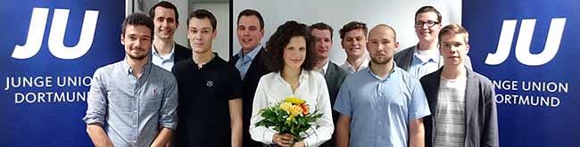 Sarah Beckhoff, CDU-Landtagskandidatin im Wahlkreis 113, ist neue Kreisvorsitzende der Jungen Union in Dortmund