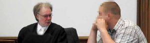André P. - mit seinem Verteidiger André Picker - wurde erneut verurteilt.