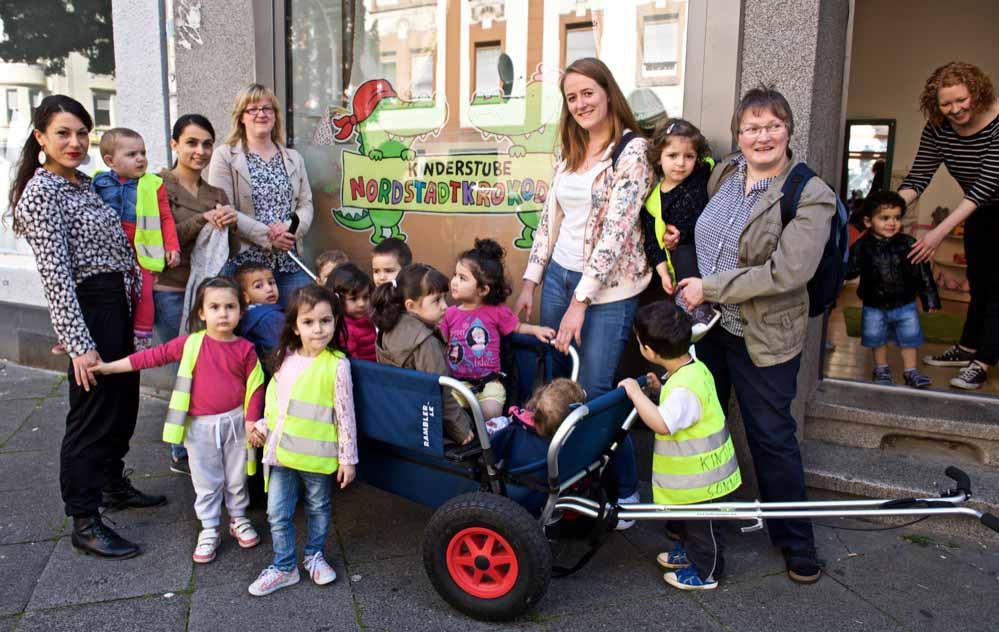 """Die """"Nordstadtkrokodile"""" im Brunnenstraßenviertel sind die dritte Kinderstube der AWO in der Nordstadt. Fotos: Wolf-Dieter Blank"""