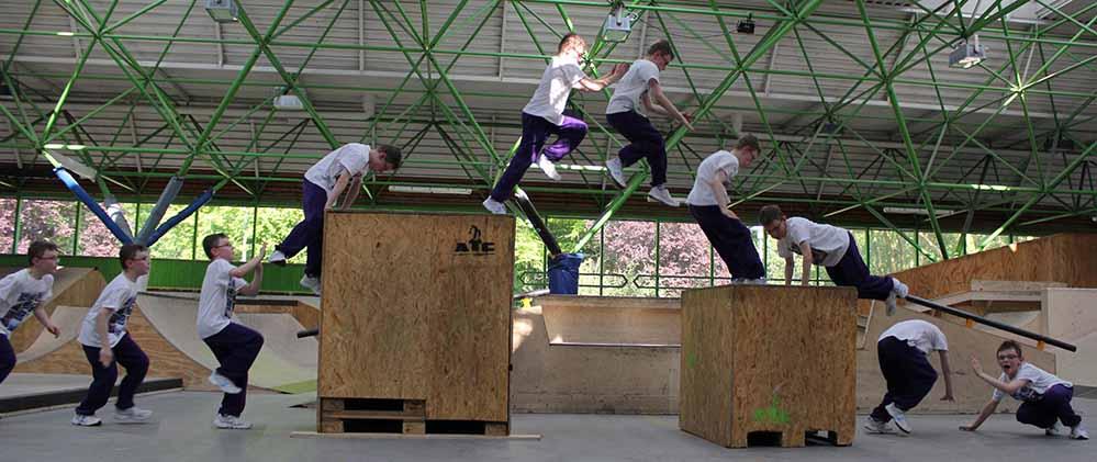 Am 9. Juli 2016 findet von 11 bis 18 Uhr im Skatepark die Parkour Convention statt. Foto: DKH