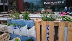 Der Palettengarten der Urbanisten lädt zum Verweilen ein. Foto: Florian Kohl