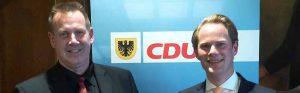 Thorsten Hoffmann und Steffen Kanitz wollen erneut in den Bundestag einziehen. Foto: CDU