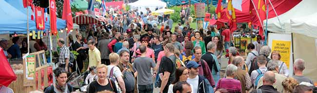 Das größte Fest der Linken: 115 Konzerte und 100 Diskussionsrunden beim UZ-Pressefest in Dortmund