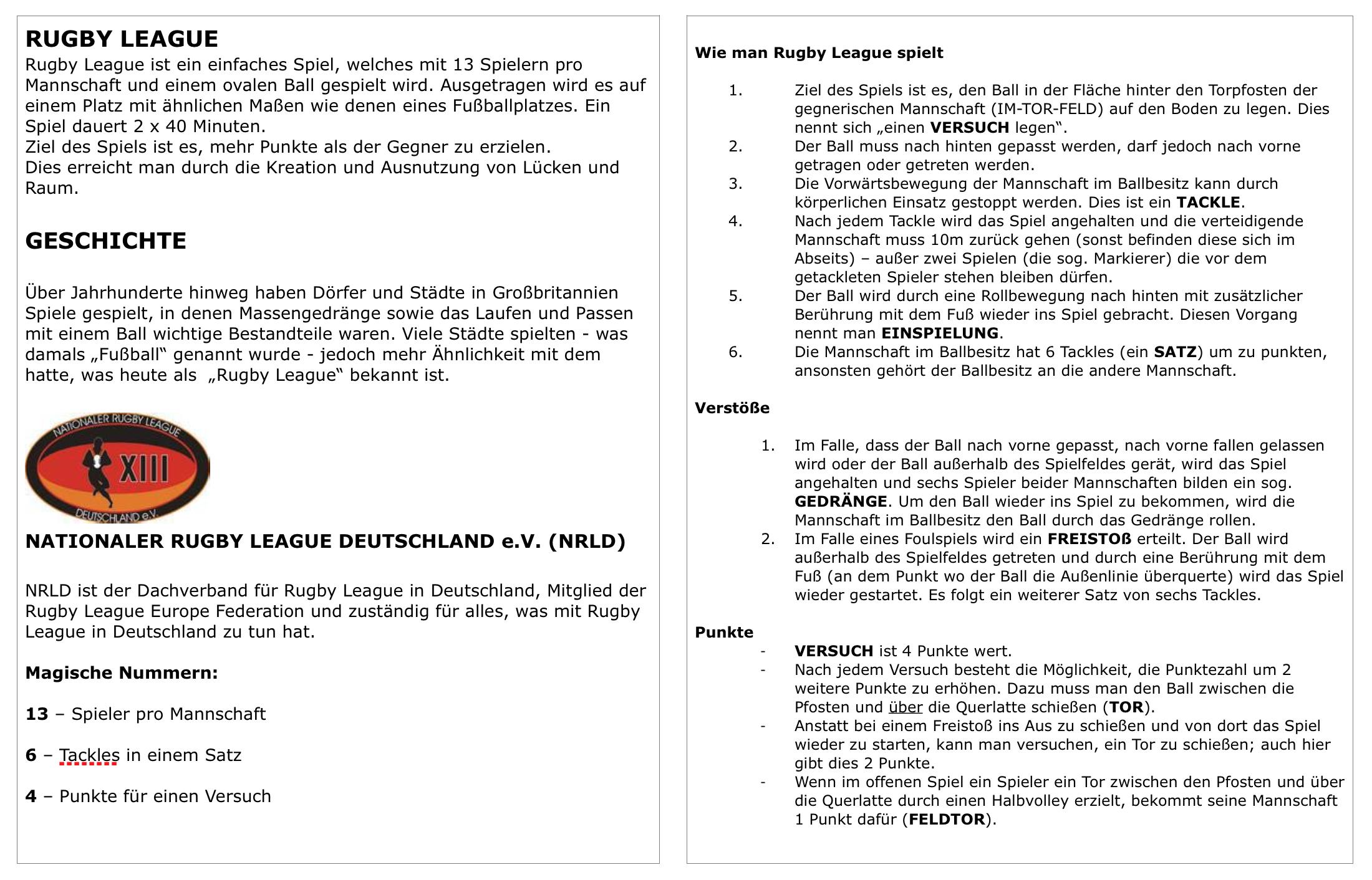Rugby-League-Regeln