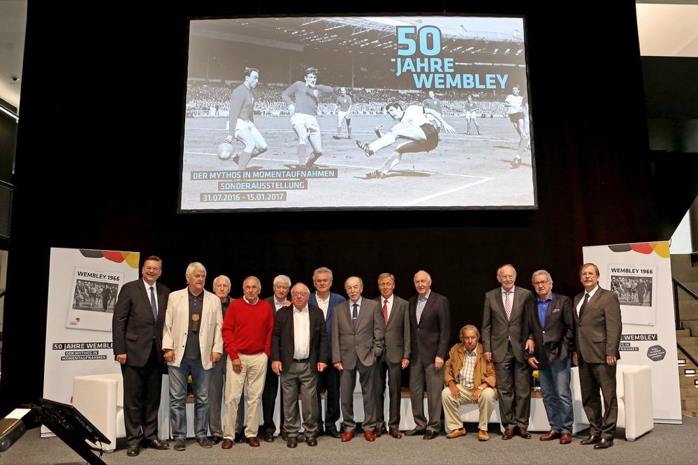 Zur Wembley-Ausstellung gab es eine Matinee zu Ehren der Vizeweltmeister. Fotos: Deutsches Fußballmuseum/Carsten Kobow