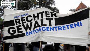 """Unter dem Motto """"Es reicht! Gegen Rechte Gewalt"""" lautete das Motto der Demo, die vom U-Bahnhof Kampstraße in bis zum Wilhelmplatz in Dorstfeld führte."""
