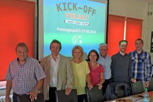 """""""Kick-Off Vielfalt"""" ist das Motto des eintägigen Fußballturniers. Foto: Joachim vom Brocke"""