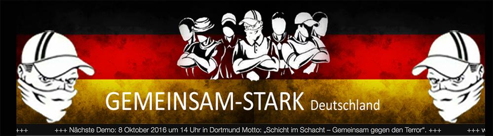 """Mit diesem Bild wirbt die Gruppe """"Gemeinsam Stark Deutschland e.V."""" für sich. (Screenshot)"""