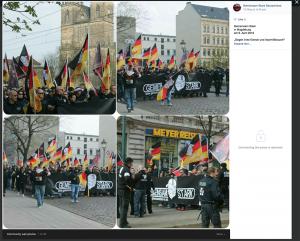 500 bis 600 TeilnehmerInnen gab es bei der Demo in Magdeburg. (Screenshot)
