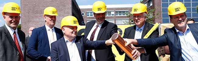 Umsetzung des neuen Betriebsstättenkonzeptes von Stadt und EDG schreitet voran: Grundsteinlegung am Sunderweg