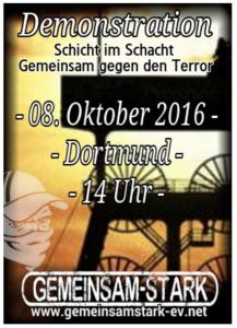 Mit diesem Plakat mobilisieren die Hooligans nach Dortmund. (Screenshot)