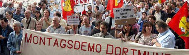 Jahrestag: 14 Jahre Montagsdemo in Dortmund– im Kampf gegen Hartz IV-Gesetze und für soziale Gerechtigkeit