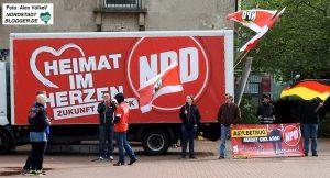 """Die NPD hat in Dortmund der Partei """"Die Rechte"""" weitgehend das Fed überlassen."""