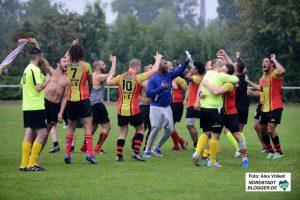 Die Belgier feierten ihren Sieg, den sie der deutschen Mannschaft zu verdanken hatten.