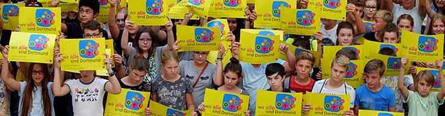 Klare Botschaft der Ev. Kirche Dortmund:Rechtsextremismus steht im Gegensatz zum christlichen Glauben