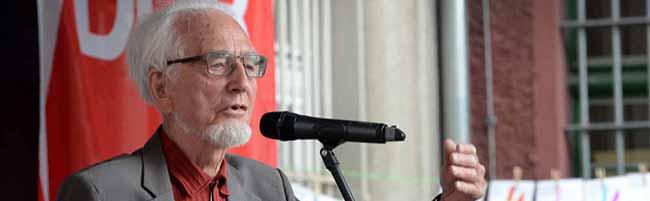 Antikriegstag-Gedenken in Dortmund: Nach 20 Jahren Schweigen ergreift Erhard Eppler wieder das Wort