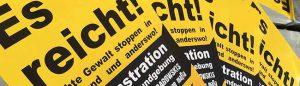 """""""Es reicht! Rechte Gewalt stoppen""""heißt es am Samstag in Dortmund. Fotos: Alex Völkel"""