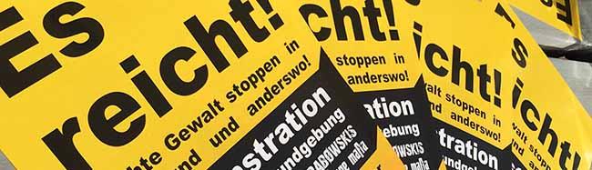"""""""Es reicht! Rechte Gewalt stoppen"""": Über 40 Gruppen, Verbände und Parteien rufen zur Teilnahme in Dortmund auf"""