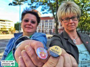 Iris Bernert-Leushacke hat die Demo angemeldet, Jutta Reiter gehört zu den UnterstützerInnen.
