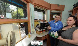Tanja Ghasan und Markus Lohse arbeiten gerne im Kiosk.