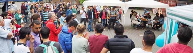 FOTOSTRECKE: Willkommensfest des Projekt Ankommen e.V. für Flüchtlinge und Unterstützer im Westpark