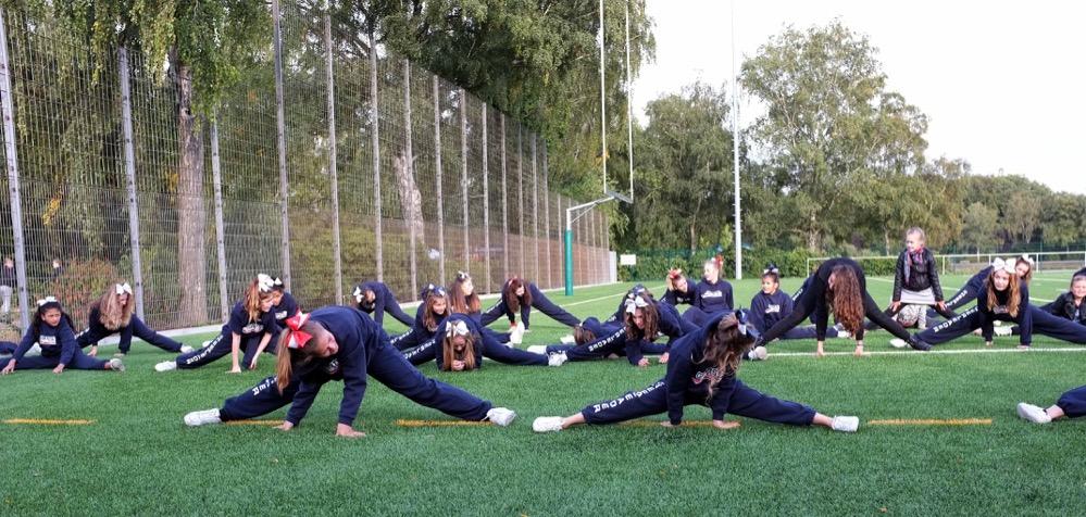 Training bei den Cheerleadern ist nichts für Unsportliche.
