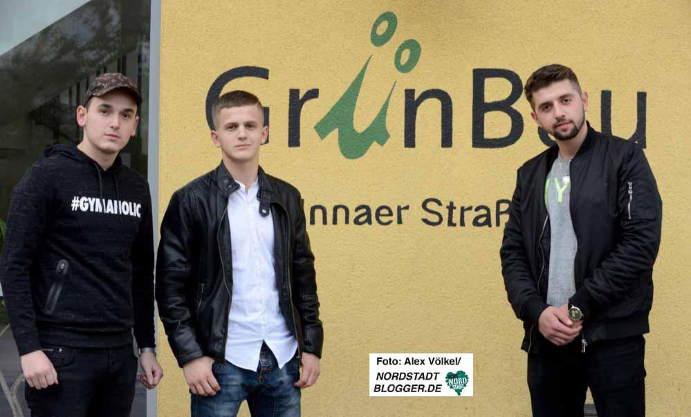 Endri,Ildis und Albi haben es geschafft - die albanischen Jugendlichen haben einen Ausbildungsplatz.