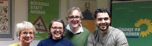 Barbara Brunsing, Svenja Noltemeyer, Mustapha Essati und Ulrich Langhorst treten für die Grünen an.