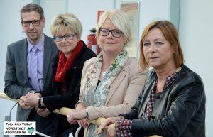 Michael Ifland (IHK), Jutta Reiter (DGB), Astrid Neese (Arbeitsagentur) und Angelika Weise (HWK) stellten den Ausbildungsmarktbericht vor.