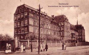Das Brüder-Krankenhaus - Blick von der Burgholzstraße aus.