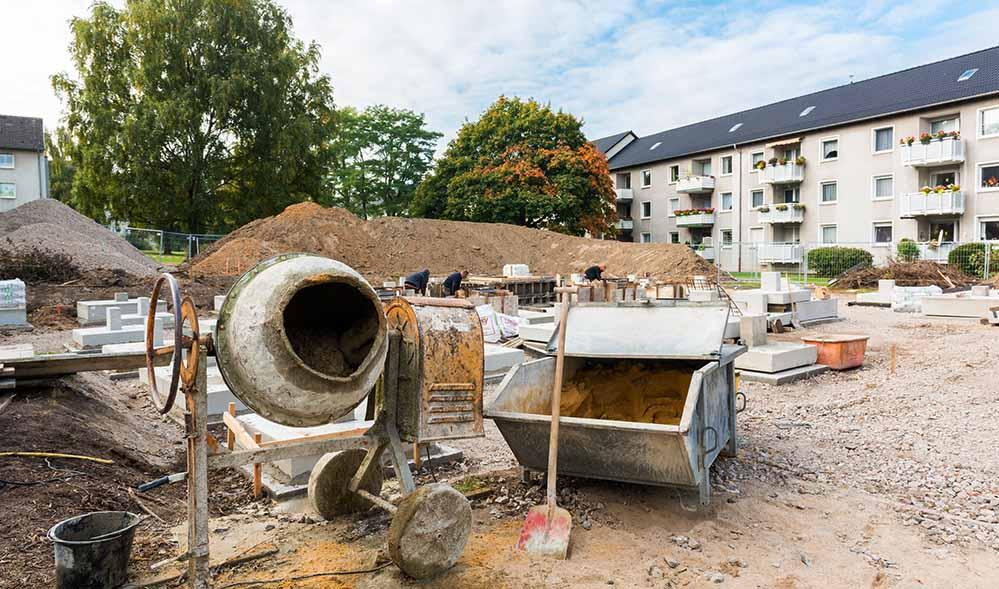 Verstärkter Wohnungsbau könnte den Verknappungstendenzen entgegenwirken. Foto: Simon Bierwald