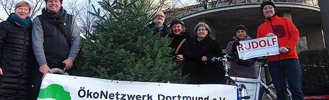 Bio-Weihnachtsbaumverkauf vom Öko-Netzwerk Dortmund – Klimaneutrale Lieferung per Lastenfahrrad möglich