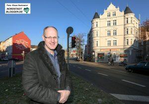Christian Schmitt, Geschäftsführer der Julius Ewald Schmitt GbR saniert Haus an der Ecke Brunnen/Bornstraße