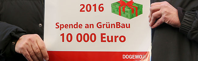 DOGEWO21 spendet 10 000 Euro an GrünBau für die weitere Aufwertung von Problemhäusern in der Nordstadt