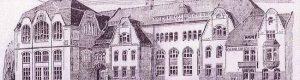 """Mit dieser Zeichnung vermittelte die """"Dortmunder Zeitung"""" in ihrer Ausgabe vom 30. März 1905 ihren Lesern einen ersten Eindruck von dem Schulneubau-Projekt an der Münsterstraße."""