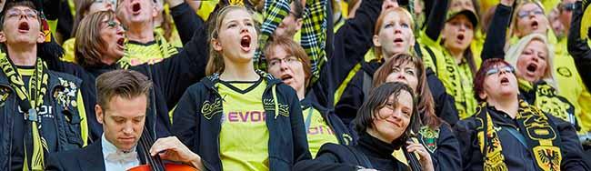 """Beim Kulturprogramm """"Anstoss"""" des Deutschen Fußballmuseums stehen Fußball und Musik im Mittelpunkt"""