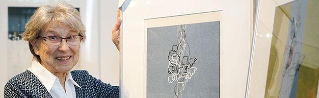 """In der Ausstellung """"Im Unterwegs zu Hause sein"""" sind Werke von Irmtraud Büttner im Depot in der Nordstadt zu sehen"""
