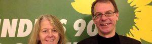 Die Grünen Ingrid Reuter und Markus Kurth werden in Dortmund für den Bundestag kandidieren.