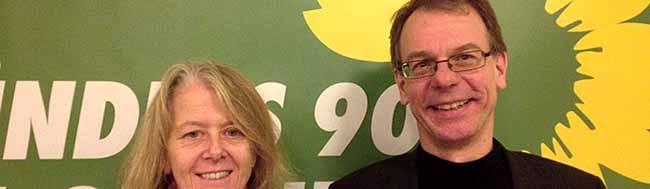 Die Bündnis-Grünen Ingrid Reuter und Markus Kurth werden in Dortmund für den Bundestag kandidieren
