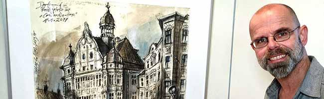 """""""Reviergänge – auf den Spuren von Kohle und Stahl"""": Mathes Schweinberger stellt seine Arbeiten im Hoesch-Museum aus"""
