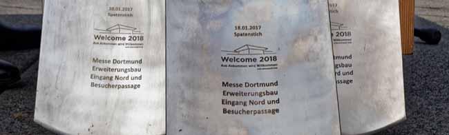 """FOTOSTRECKE Erster Spatenstich für """"Welcome 2018"""": Die Messe Dortmund erhält ein neues Eingangsportal"""