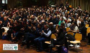 Erste Talkrunde im Dietrich-Keuning-Haus: 4 Jahre NSU-Prozess. Moderation, Aladin El-Mafaalani. Referenten,Mehmet Daimagüler und Fatih Cevikkollu