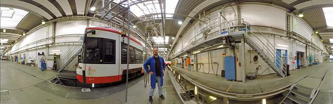 360 Grad-Blick in die Stadtbahn-Werkstatt – DSW21 bietet via Youtube virtuelle Einblicke hinter die Kulissen