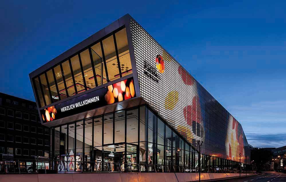 Das Deutsche Fußballmuseum wurde im Oktober 2015 eröffnet. Foto: Hannapel/DFM