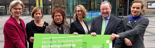Mit Gottesdienst in der Reinoldikirche wird Sonntag Lust auf den Deutschen Kirchentag 2019 in Dortmund gemacht