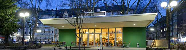 """Der """"Grüne Salon"""" feiert seinen ersten Geburtstag – die Gastronomie auf dem Nordmarkt erfreut sich Beliebtheit"""