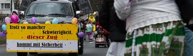 FOTOSTRECKE: 100.000 bis 150.000 Jecken verfolgten das närrische Treiben beim Rosenmontagszug in Dortmund