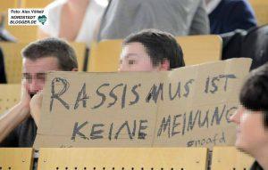 Protest gegen die AfD beim Landtagswahlkampf in NRW 2017